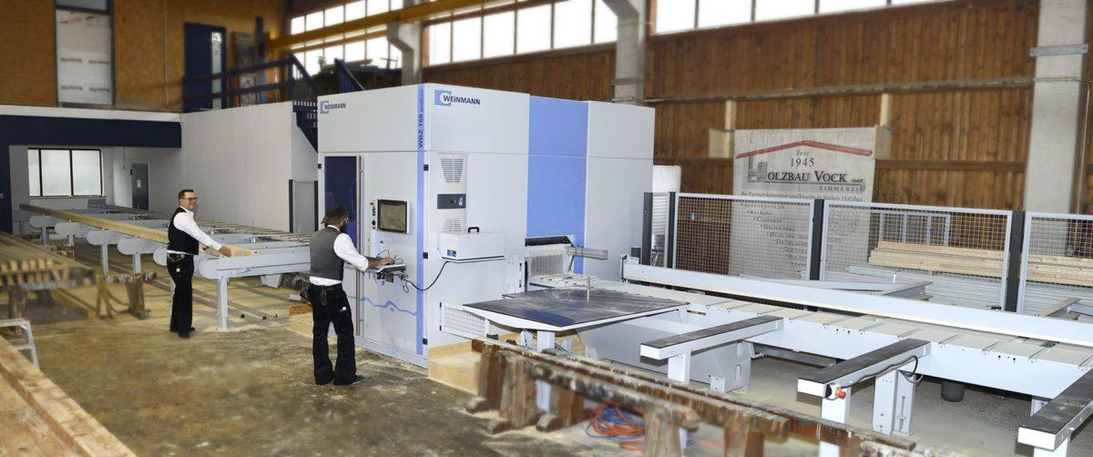 Holzbau Vock GmbH Zimmermann Heppenheim Bergstraße Abbundanlage